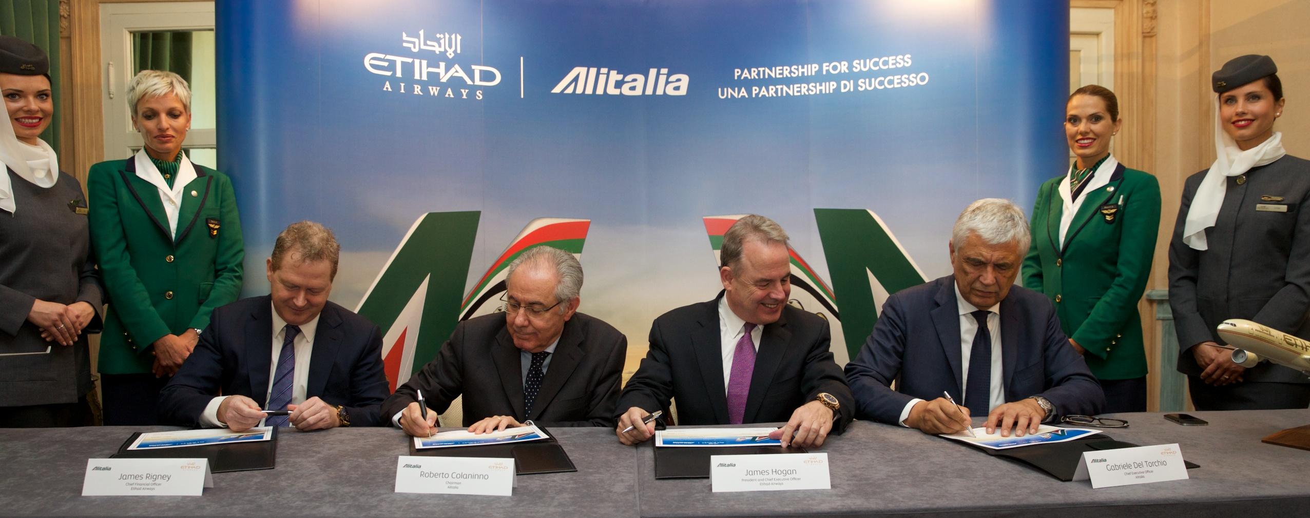 Etihad acquires 49 per cent of Alitalia