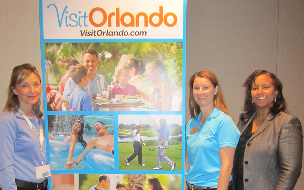 Smiles all around at Visit Orlando event