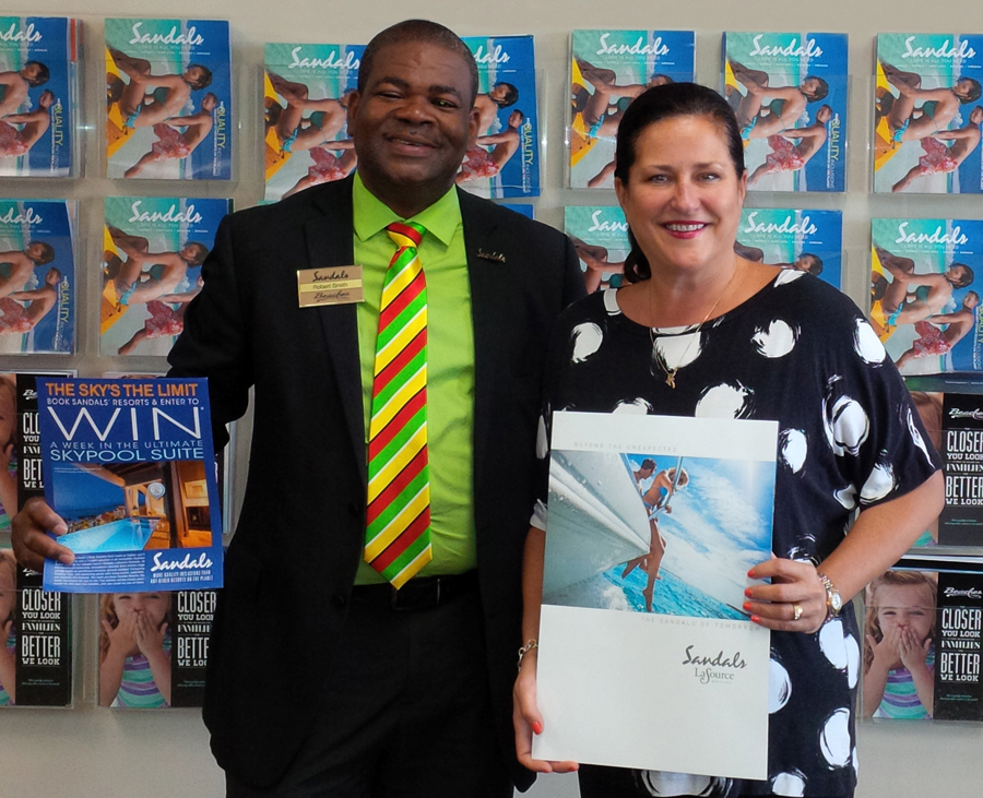 Monica Mackay wins prize trip in Sandals & Beaches sweepstakes