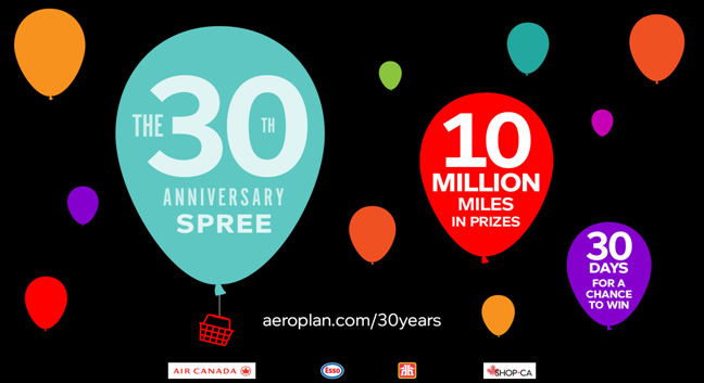 Aeroplan celebrates 30 years with new contest