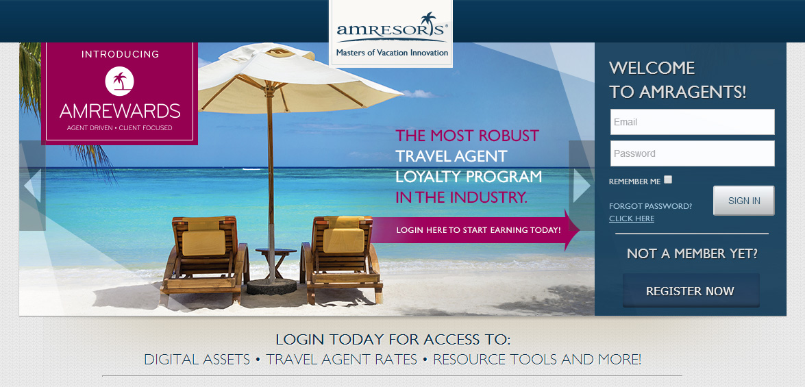 AMResorts introduces new loyalty program for agents