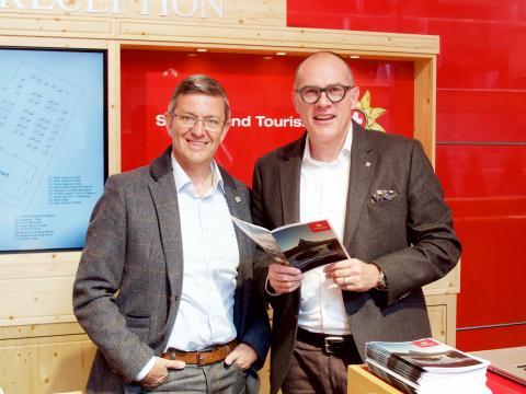 Damian Constantin, CEO, Valais/Wallis Promotion & Jürg Schmid, CEO, Switzerland Tourism