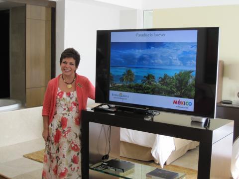 Ana Mari Irabien, public relations representative for Grand Velas Riviera Maya resort.