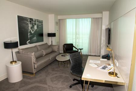 A suite inside The Delano