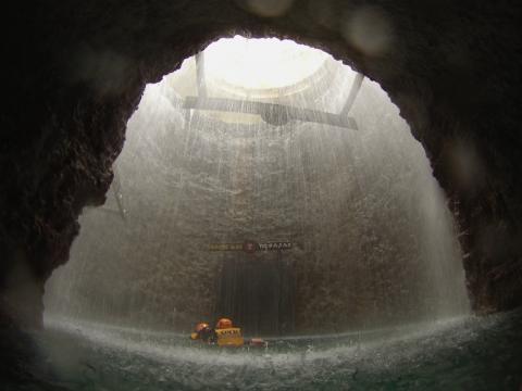 Swimming and paddling through caves in the Riviera Maya.