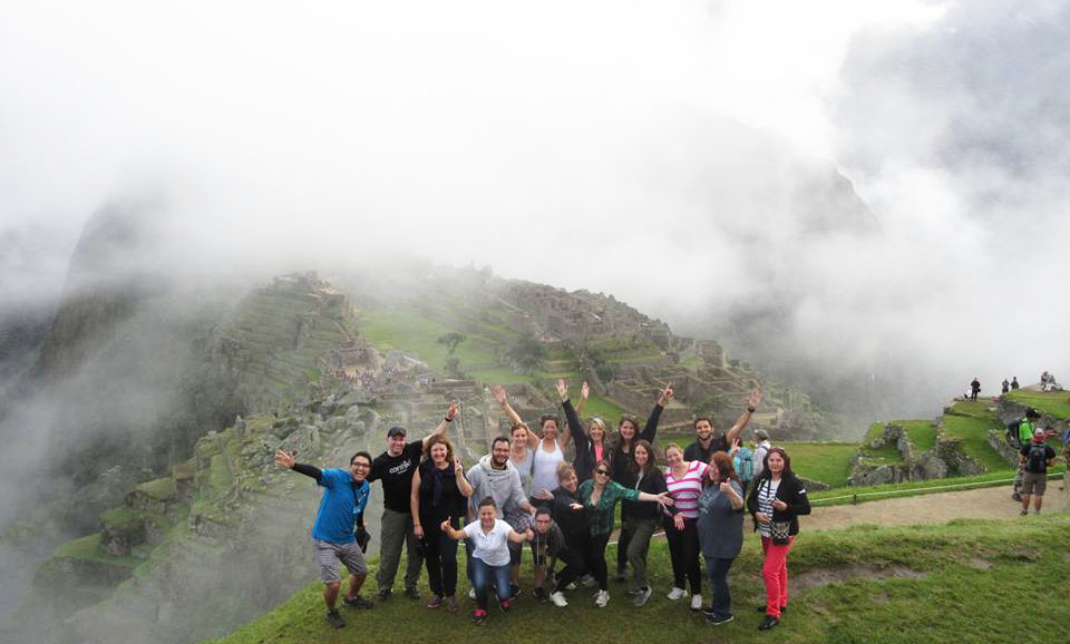 The group at Machu Picchu