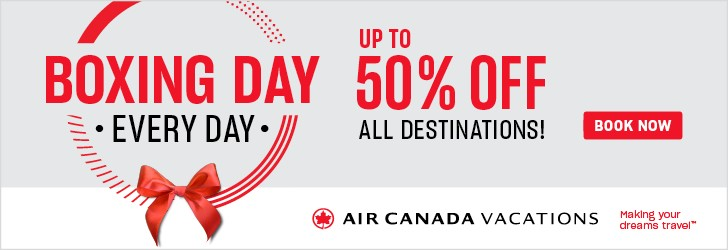 Air Canada Vacations - Footer Leaderboard - Newsletter - Dec 17
