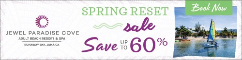 Playa Resorts - Standard banner (newsletter) - Mar 15 to Apr 11 Jewel Jamaica Spring Reset