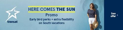 Transat - standard banner (newsletter) - Apr 8-14 2021 - Here comes the sun