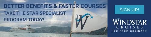 Windstar - Standard banner (newsletter) July 8-Sep 5 2021 Star Specialist Program