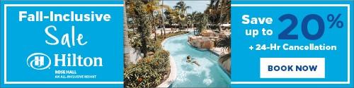 Playa Resorts - Standard banner (newsletter) - Sept 13-19 2021 Hilton Fall inclusive sale