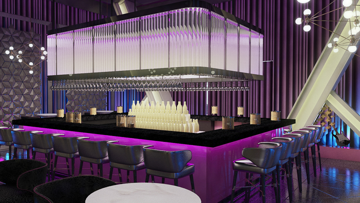 Discotec Bar at Planet HOllywood Beach Resort Cancun
