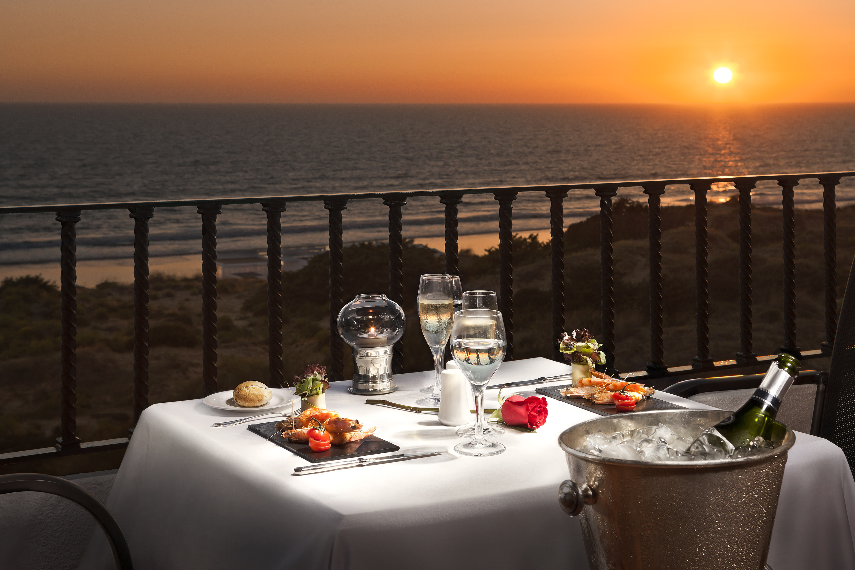 Dinner for two with a view