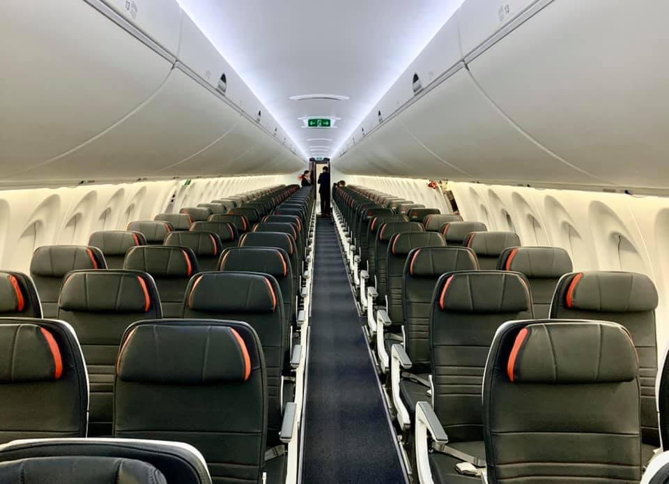 A look inside Air Canada's brand new Airbus A220-300.