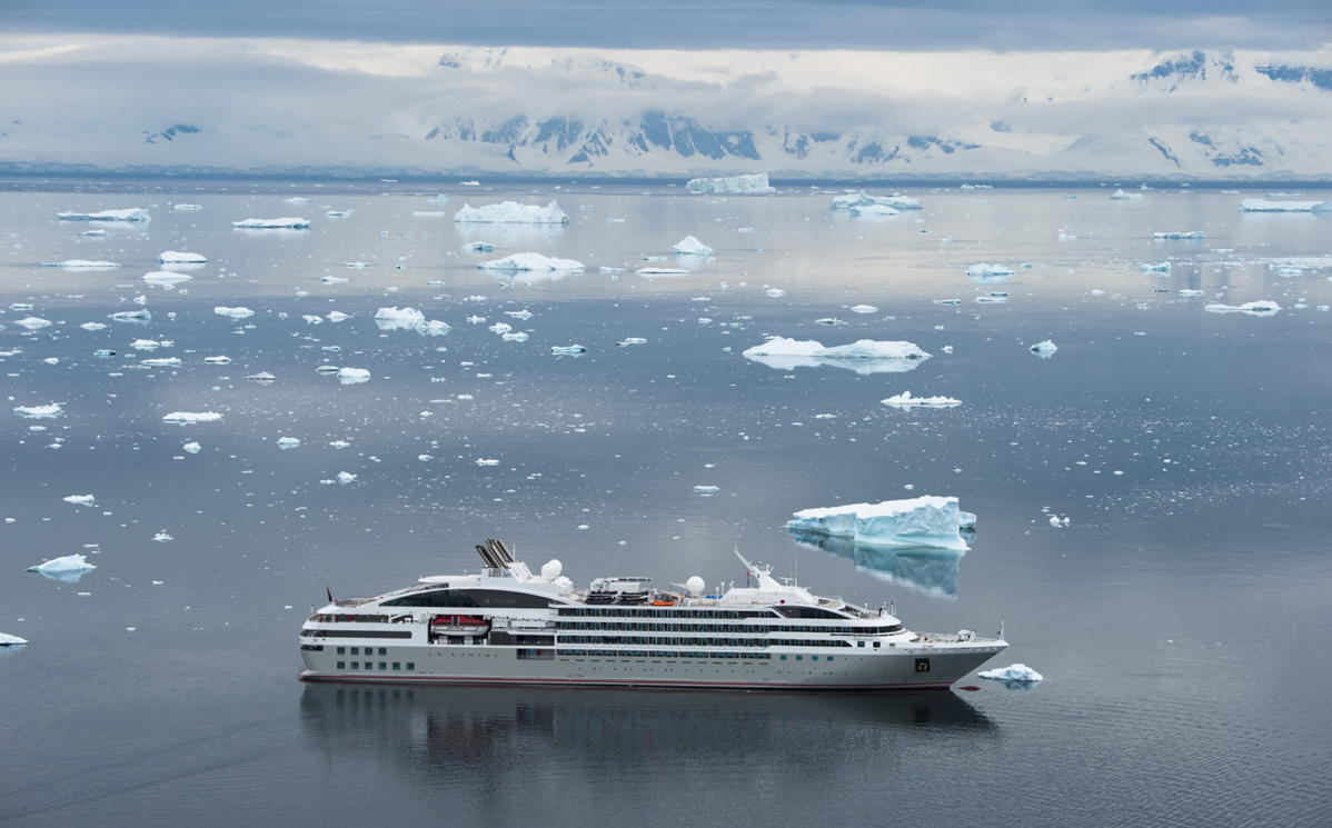 Sailing with PONANT, the Adventures by Disney Antarctica and Patagonia Expedition Cruise immerses families in landscapes of the White Continent. (PONANT/Olivier Blaud, photographer)