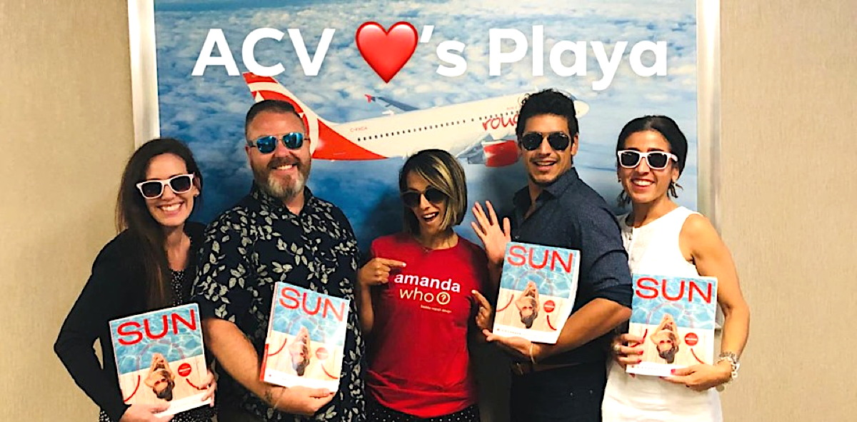 AMANDA WHO? The team at Air Canada Vacations joined in on the fun.