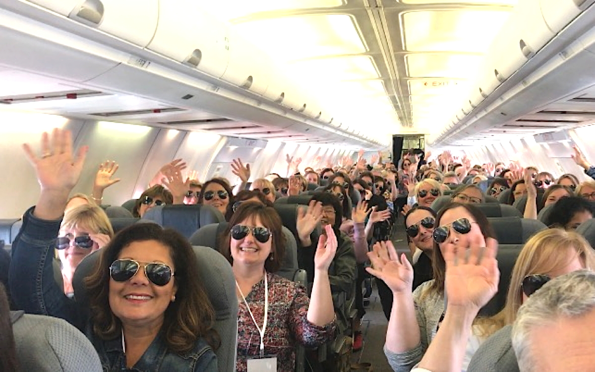 Participants got the Celebrity treatment flying to Florida via First Air, Celebrity's charter partner.