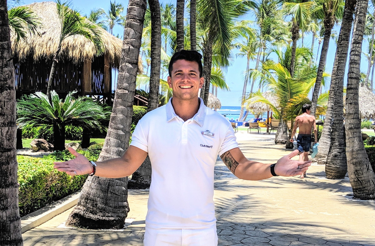 """There aren't many places where you can practice circus arts from a young to an old age in a very safe environment,"" says Alex Vilera, managing representative for Club Med Punta Cana."