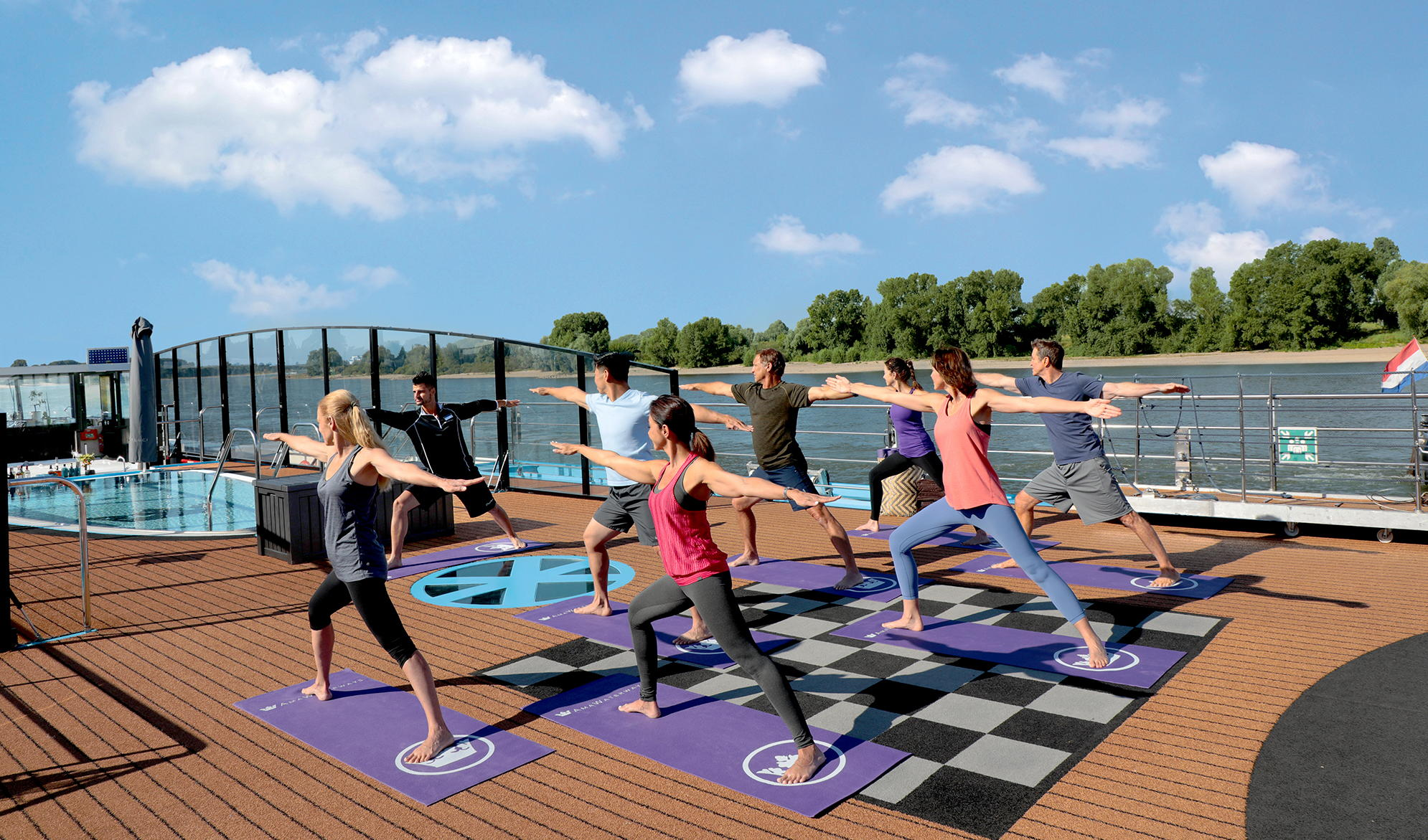 Fitness-themed cruises may be hosted by trainers and coaches who conduct group workouts. Photo: AmaWaterways