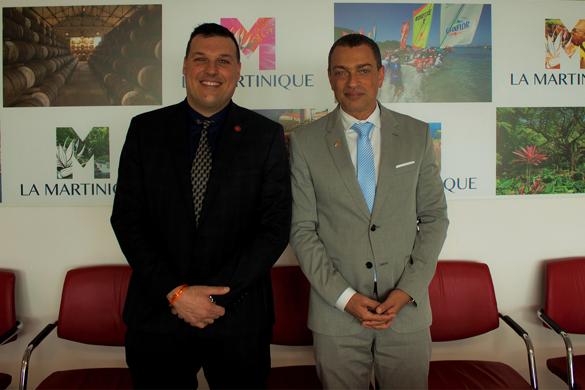 Sebastian Domanski of Air Canada (left) and François Baltus-Languedoc of Martinique Tourism Committee (right).