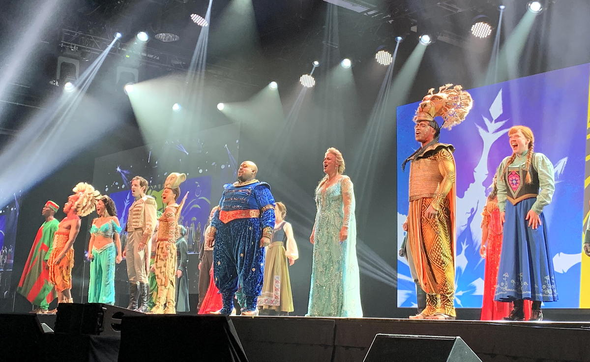 BROADWAY BOUND. NYC & Company and Broadway Inbound treated attendees to live performances from The Lion King, Aladdin and Frozen musicals.