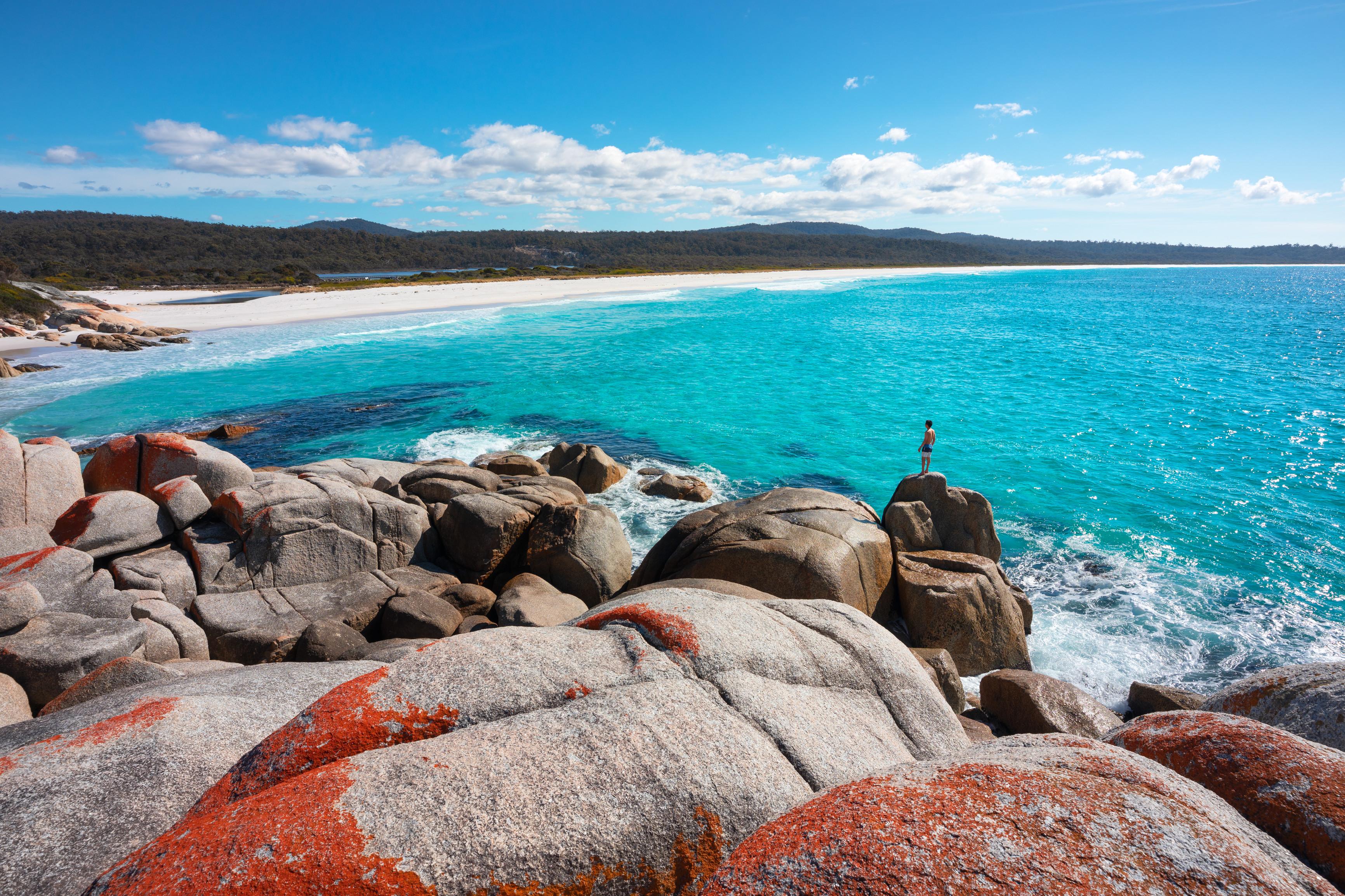 Bay of Fires, Tasmania. Tourism Australia.
