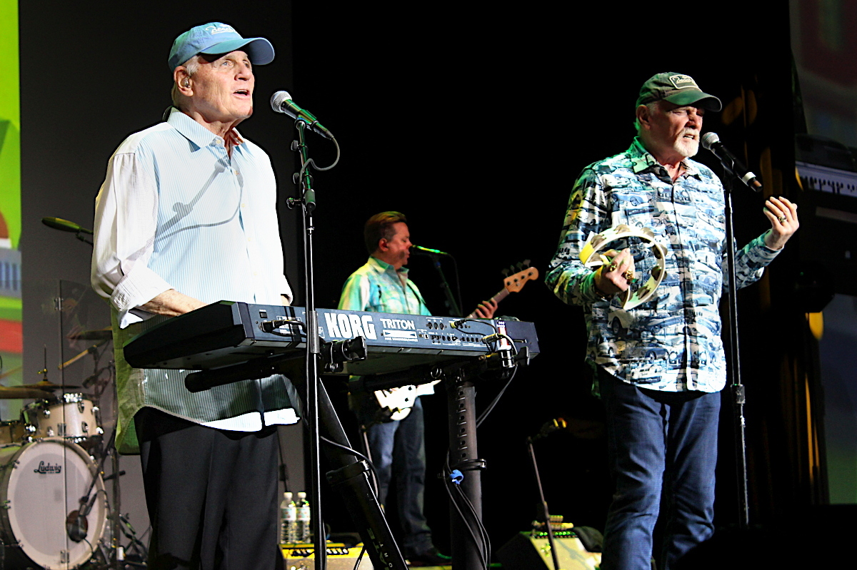 SURFIN' USA. The Beach Boys surprised IPW delegates at Brand USA's luncheon at Anaheim Convention Centre.