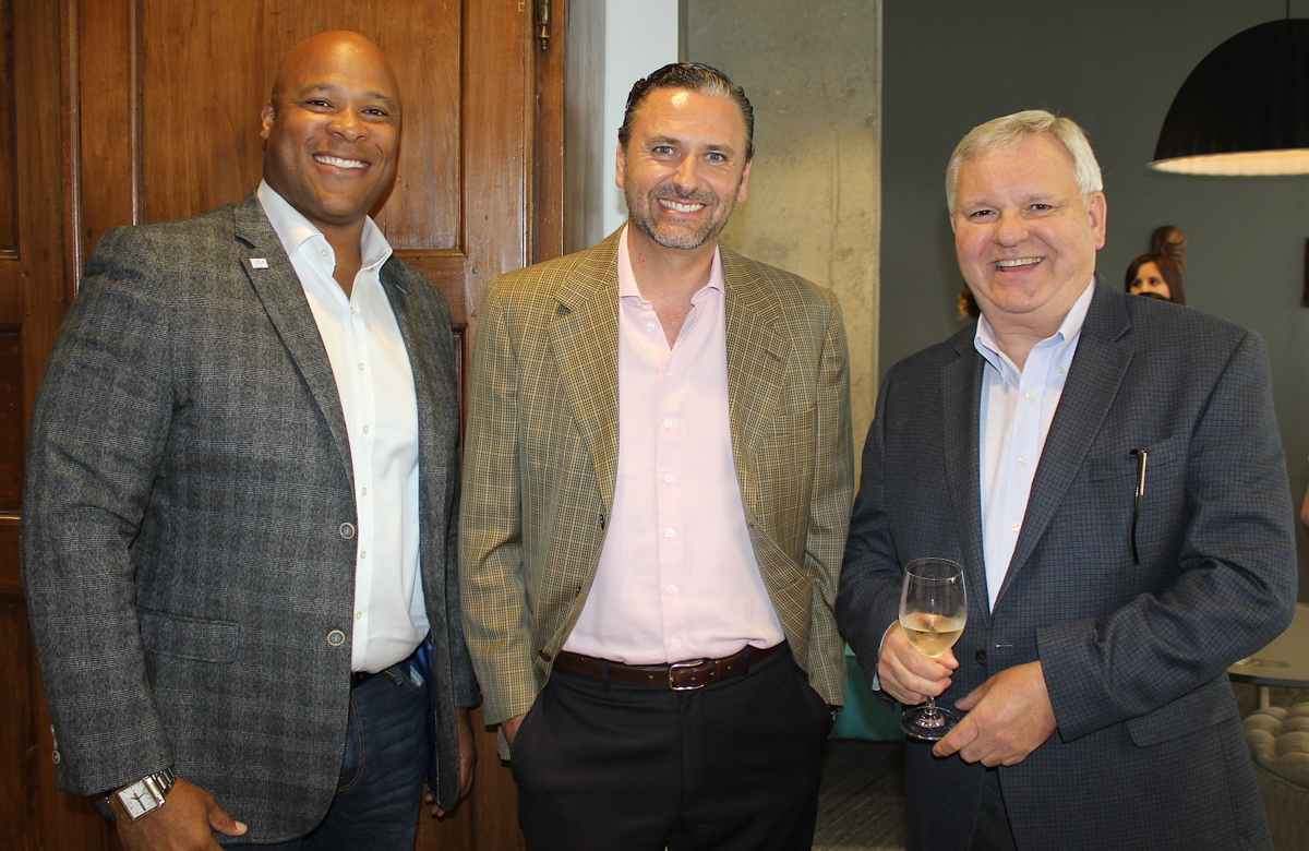 From left: Brand USA's Colin Skerritt; VoX International's Lorenzo Campos; Visit Rochester's Gregory Marshall.