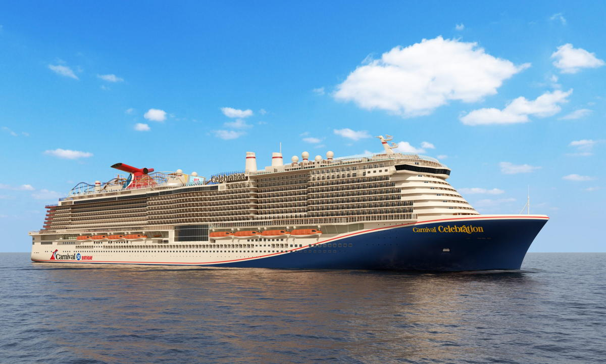Carnival Celebration is the line's next Excel-class ship. (Supplied)