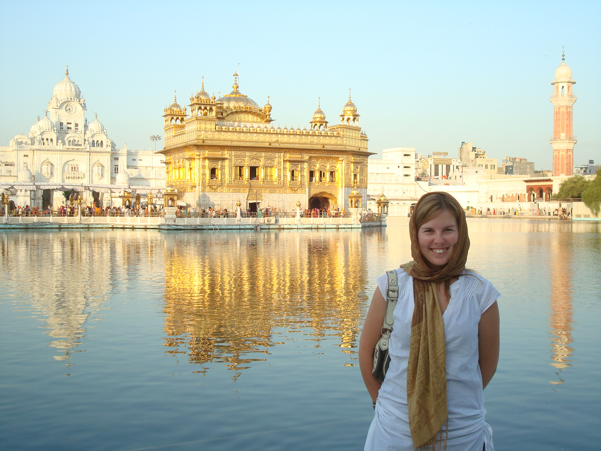 Erz visits the Golden Temple in Amritsar, India. Photo courtesy of Kristin Erz.