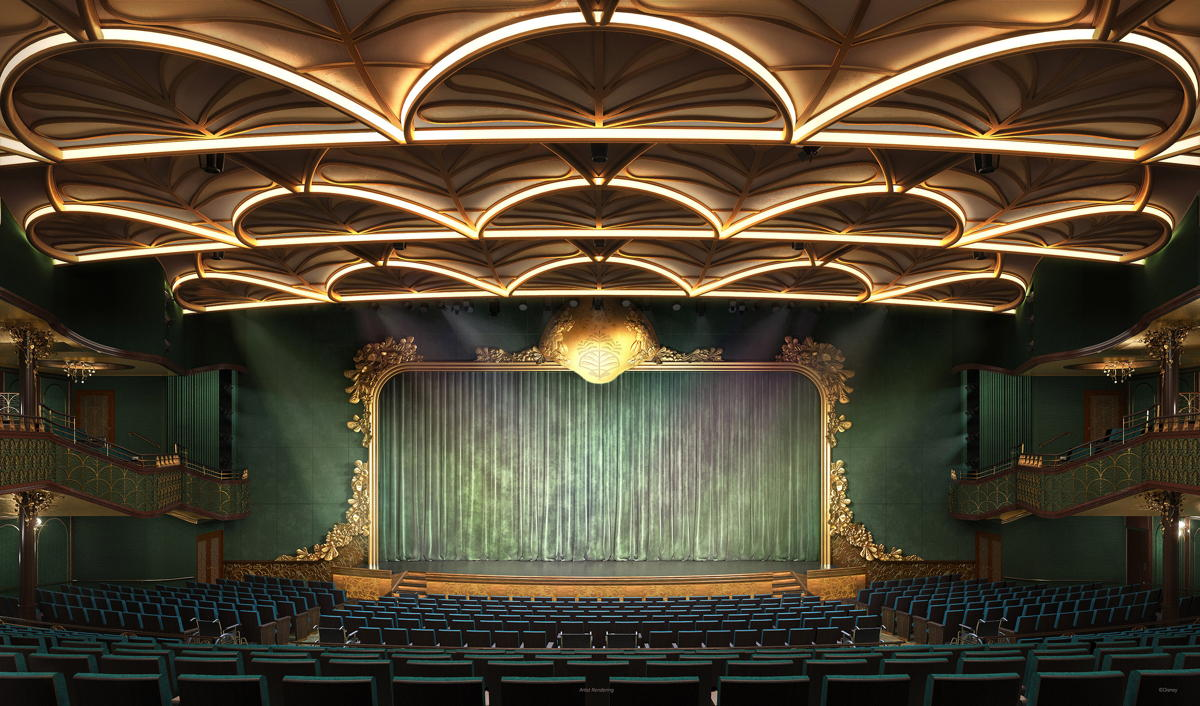 The Walt Disney Theatre will come alive with original Broadway-style stage productions. (Disney Cruise Line)