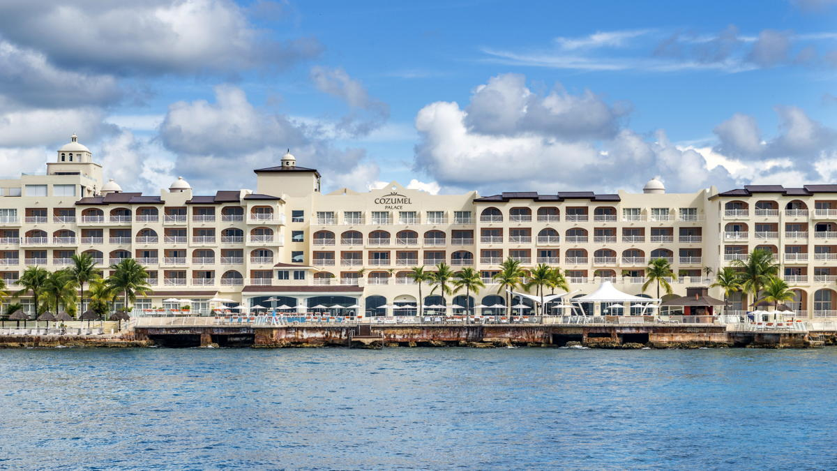 WELCOME. Cozumel Palace is an oceanfront resort on the west coast of Cozumel Island. Photo: Palace Resorts