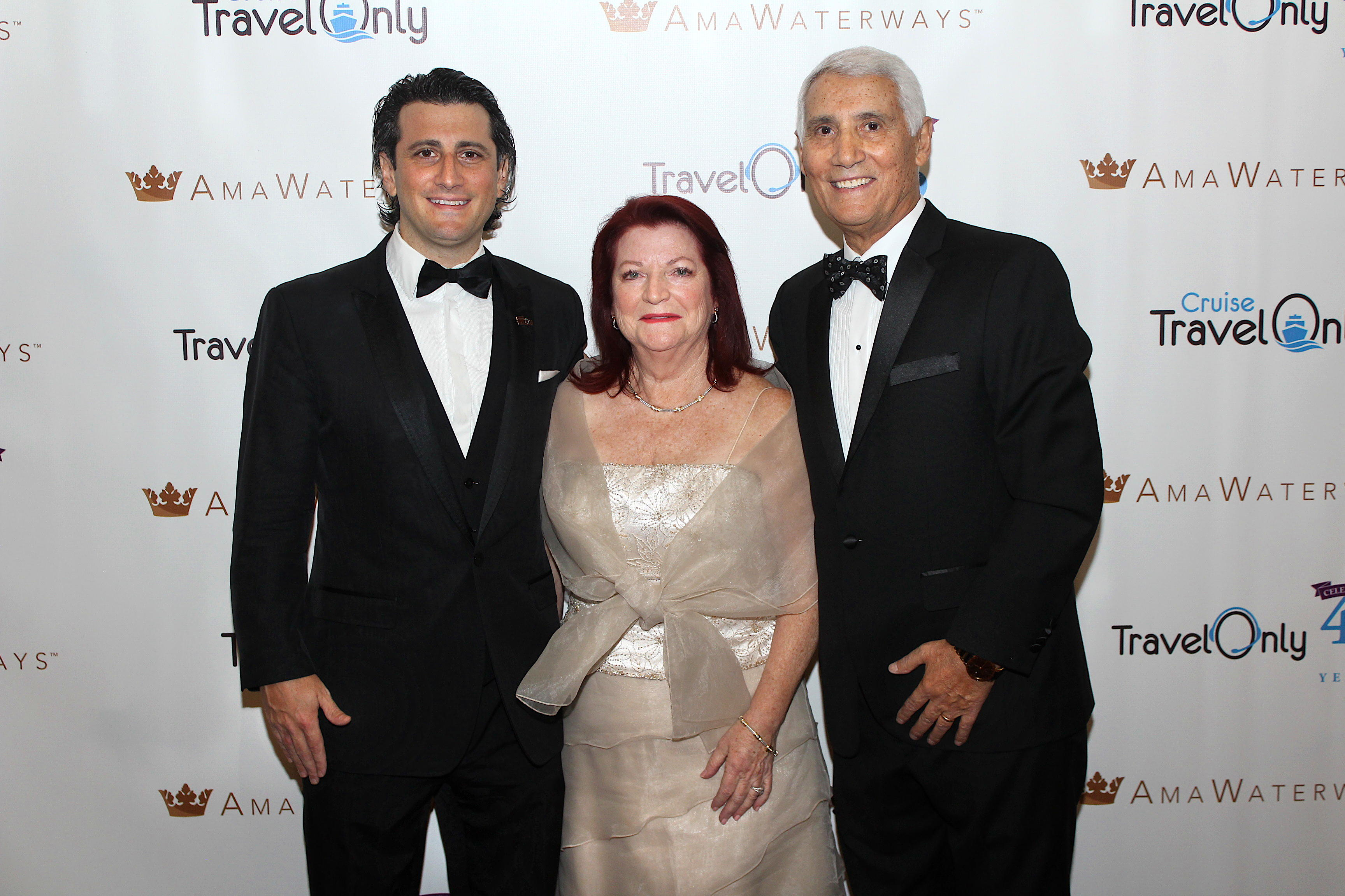 ALL IN THE FAMILY. From left (of TravelOnly): Gregory (president/CEO); Ann (CFO) and Patrick Luciani (Founder/Chairman).