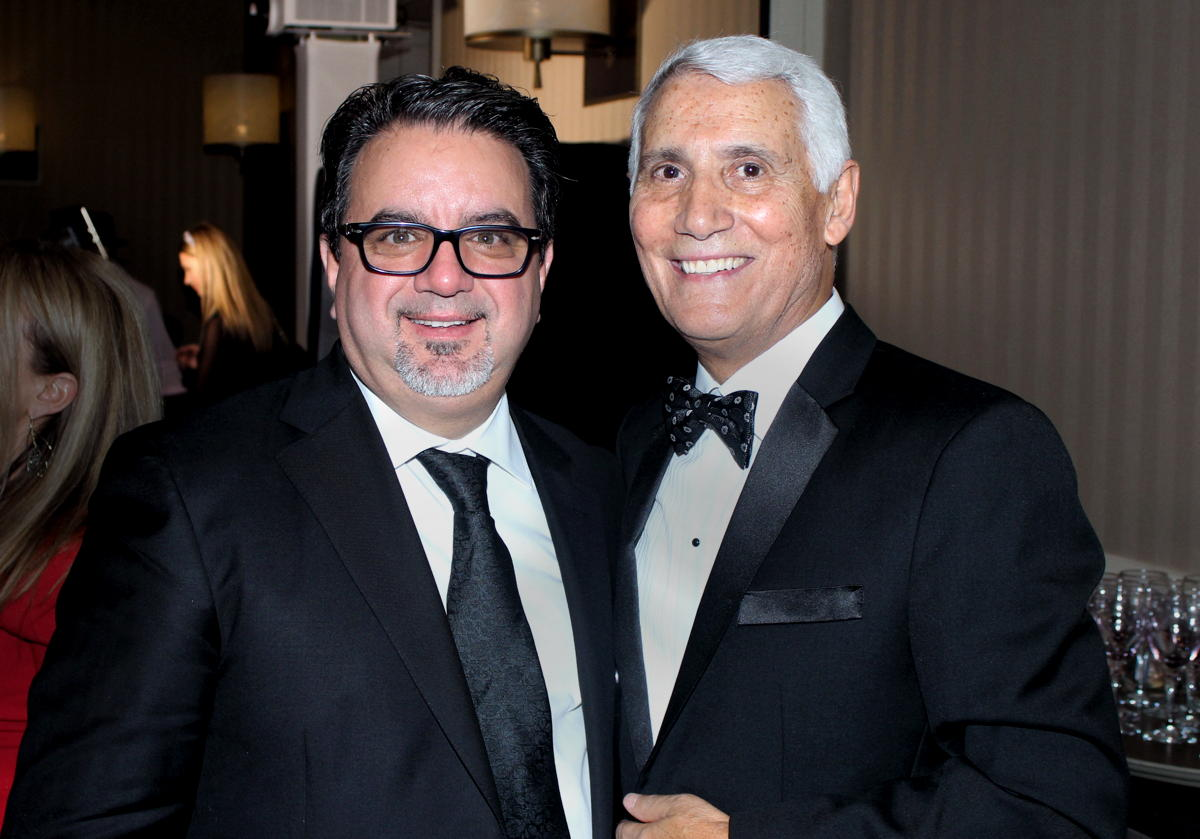 From left: Frank DeMarinis, CEO of H.I.S. Red Label Vacations Inc; Patrick Luciani, founder/chairman of TravelOnly.