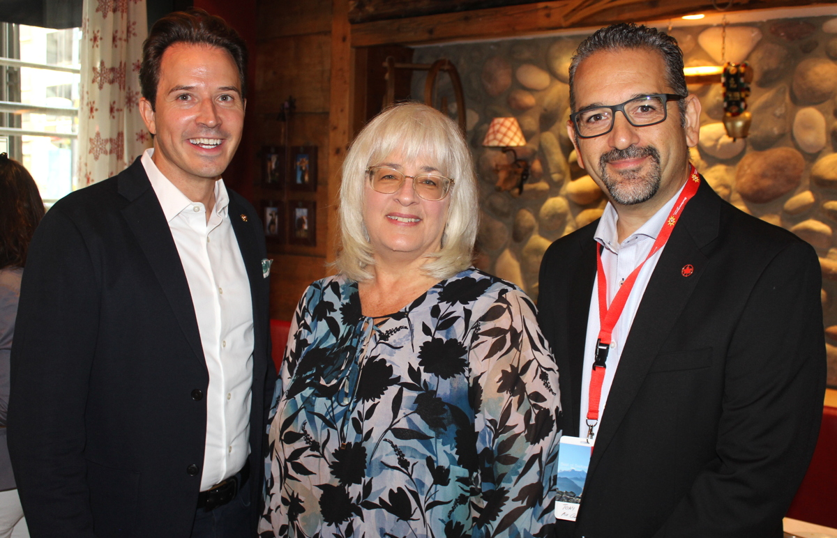 From left: Pascal Prinz, director of Switzerland Tourism in Canada; Christine Wendland, manager, marketing communications, Canada, Lufthansa Group; Tony Celio, manager of specialty sales, Air Canada