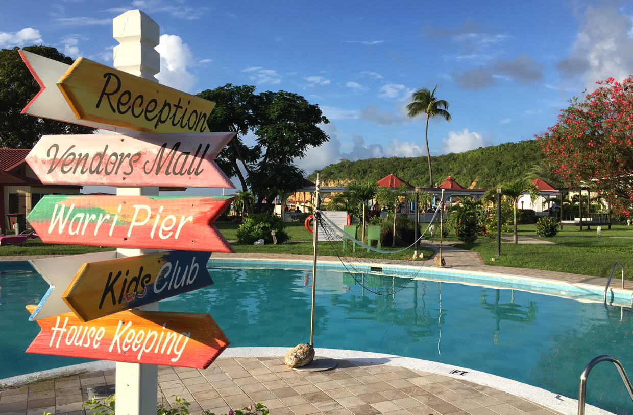On location at the Halcyon Cove by Rex Resorts in Antigua.