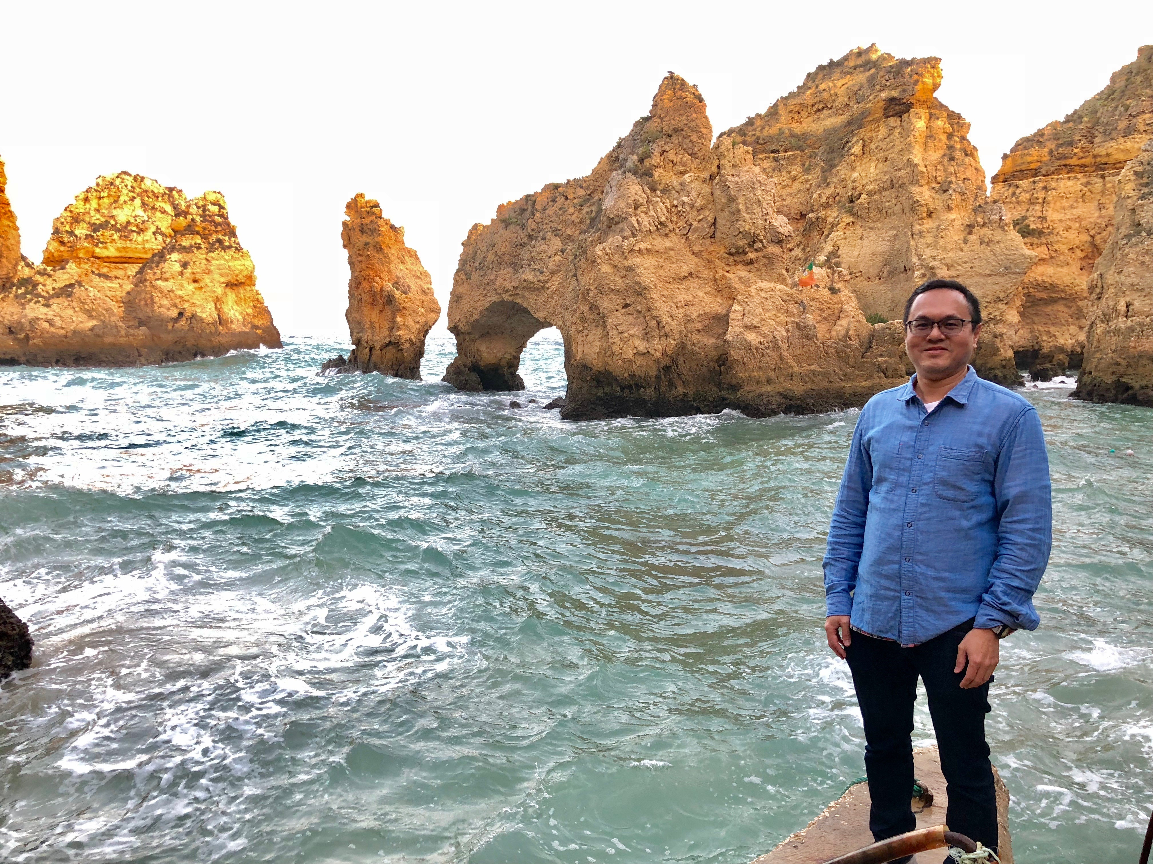 Harold visits the Ponta da Piedade in Algarve, Portugal.