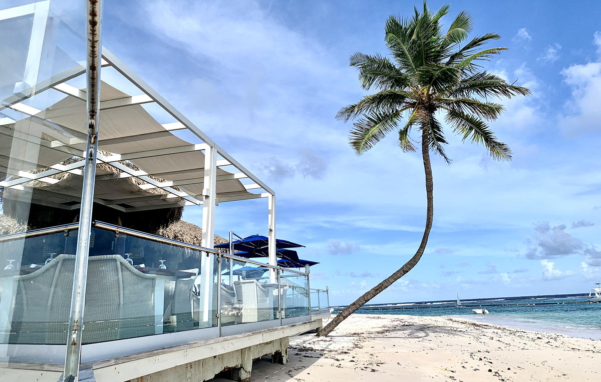 Indigo restaurant at Club Med Punta Cana is built directly on the beach.
