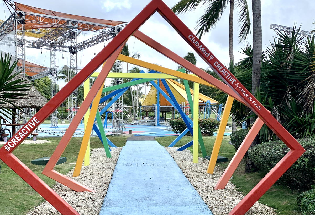 """Creactive,"" a circus-inspired playground and Cirque du Soleil partnership at Club Med Punta Cana."