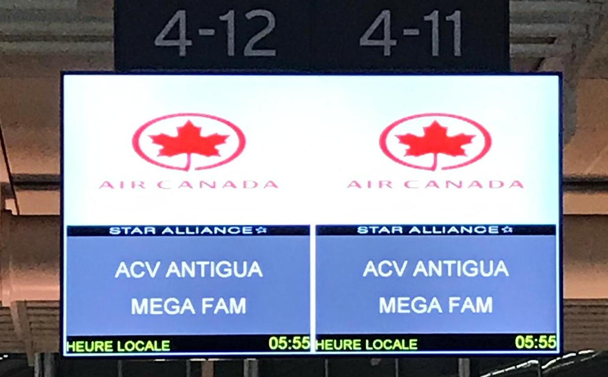 PAX is currently en route to Antigua as part of Air Canada Vacations' Mega FAM series.