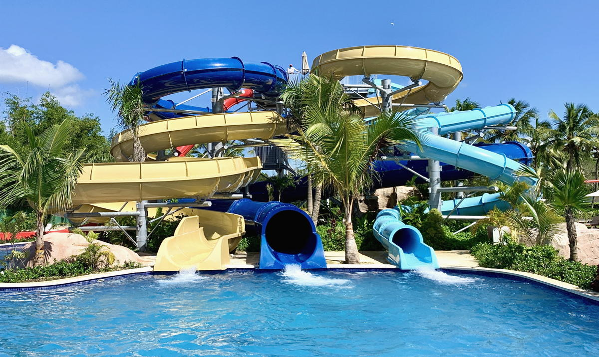 Hilton La Romana has a brand new waterpark with four water slides, a splash pad for kids and a lazy river.