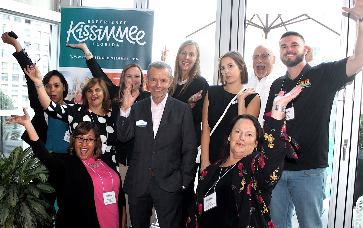 SAY CHEESE. A selection of Kissimmee's partners met with media in Toronto yesterday.