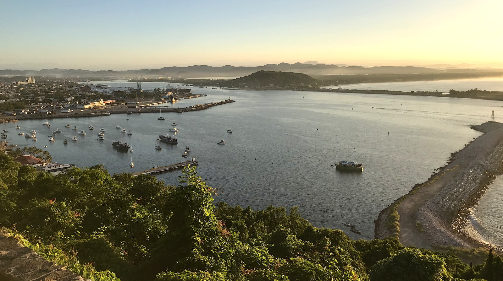 Here comes the sun. Early morning hikes uphill to Mazatlán's famous El Faro Lighthouse.