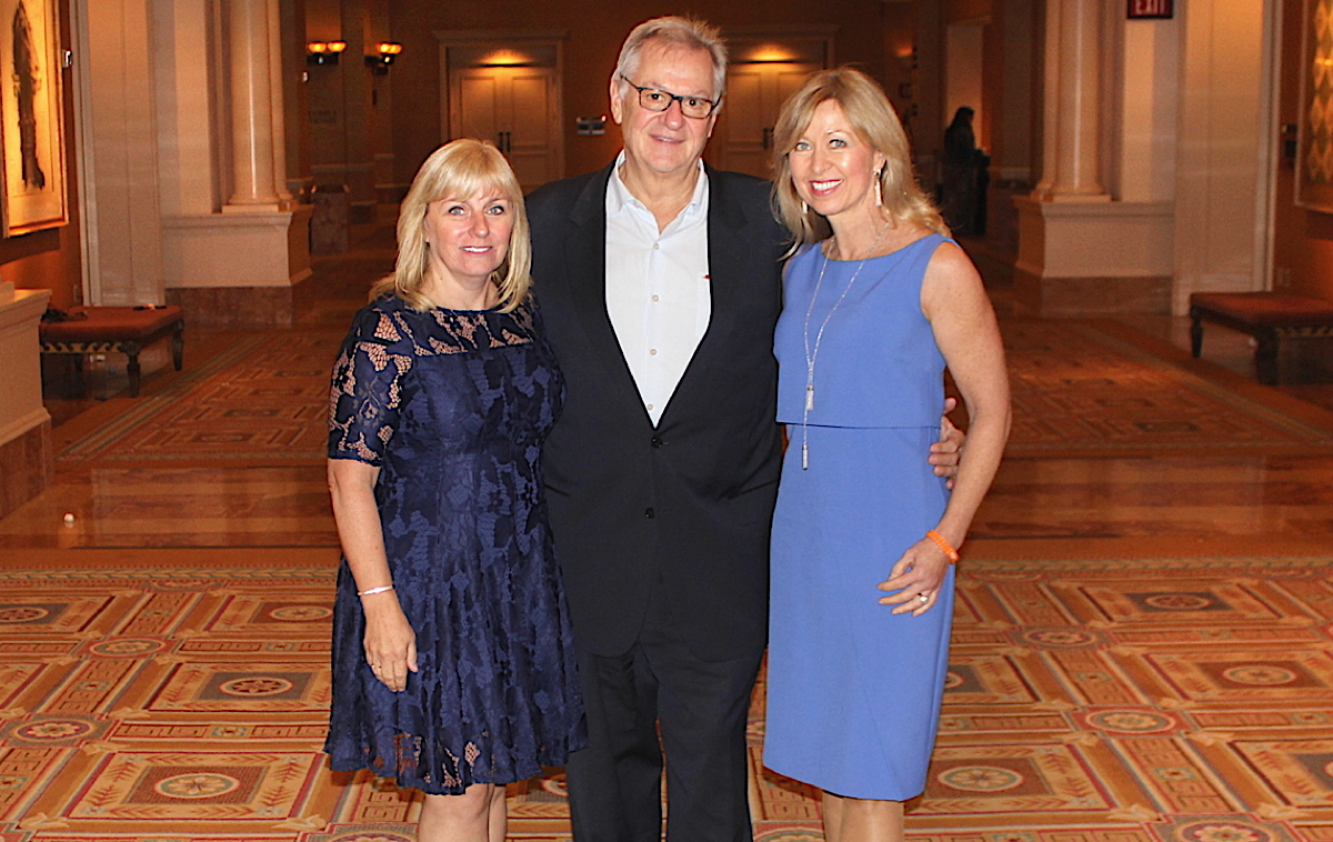 From left (of AmaWaterways): Sandra Gardiner, director, national accounts, Canada; Rudi Schreiner, president/co-founder; Kristin Karst, executive vice-president/co-founder