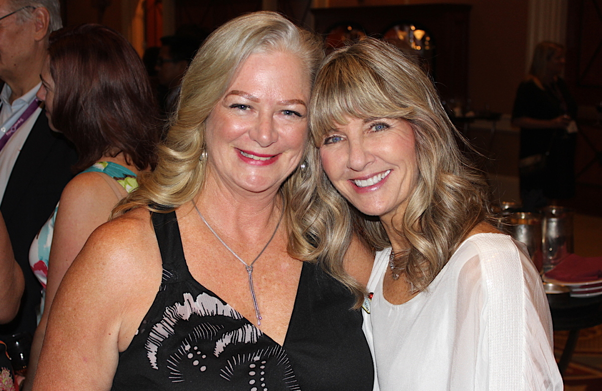 IT TAKES TWO. From left: TravelOnly's Kathleen Campbell and Celebrity Cruises' Brenda Lynne Yeomans in Las Vegas.