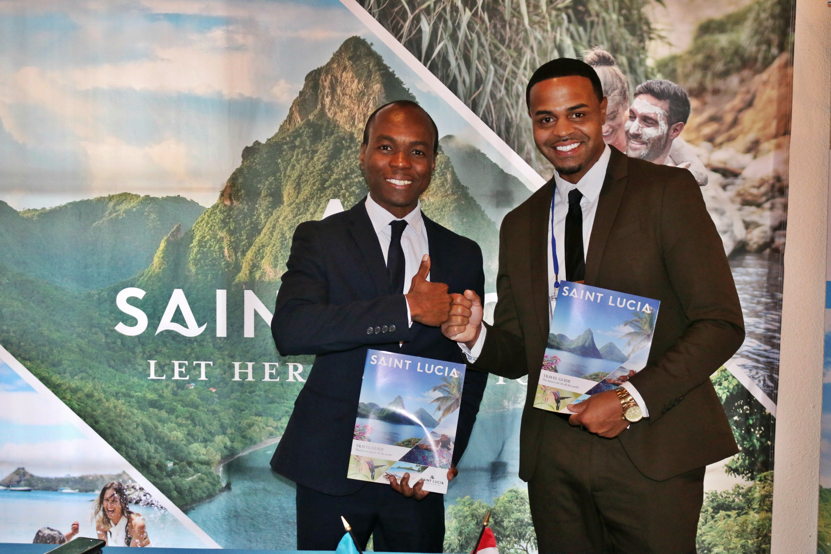Dominic Fedee, Chair of the CTO and Minister of Tourism, Saint Lucia, and Andrew Ricketts, TOTAL Public Relations