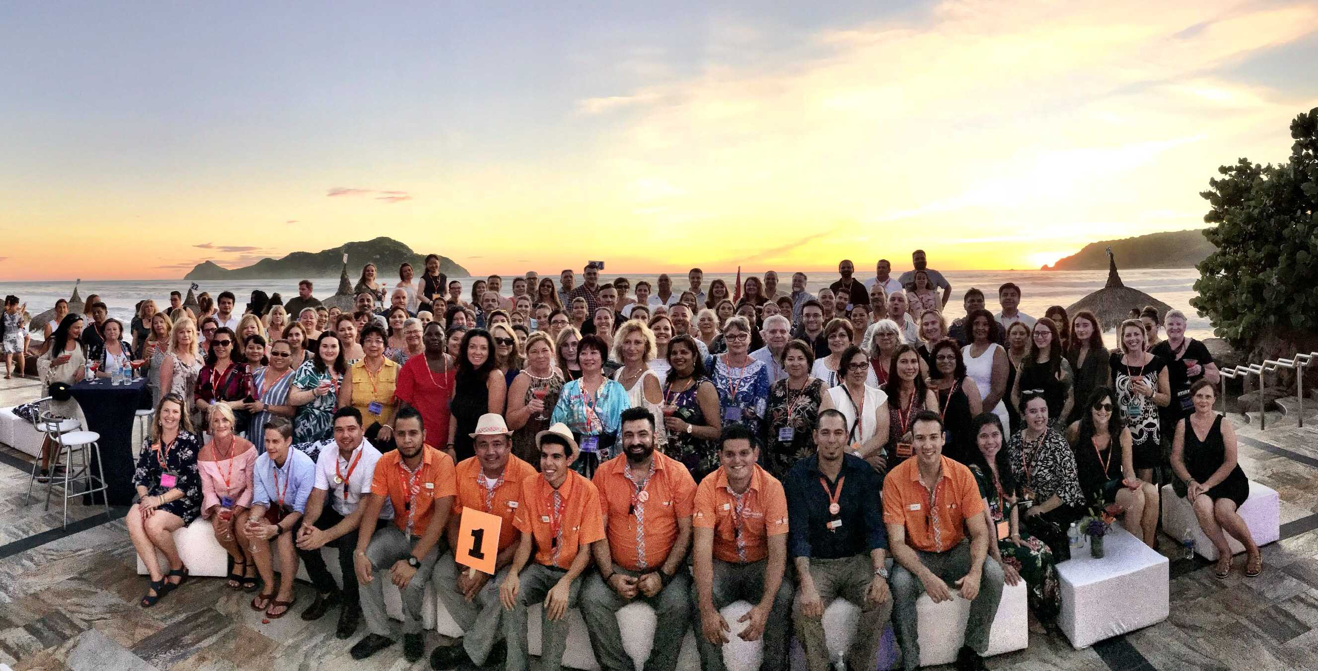 Say cheese! Attendees pose for a group shot as part of Sunwing's FAM trip in Mazatlán this past weekend. Photo courtesy of Sunwing Travel Group.