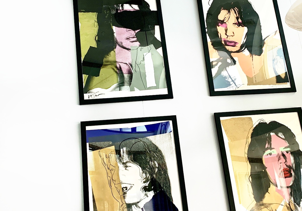 POP ART. Andy Warhol's original Mick Jagger screen prints can be found at the Hamilton Princess Hotel in Bermuda.