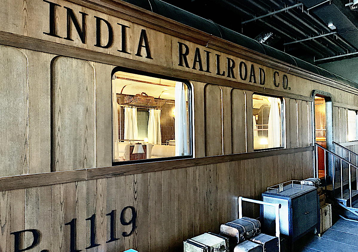 Journeys features a built-in train car (that guests can dine in) modelled after The Maharajas' Express.