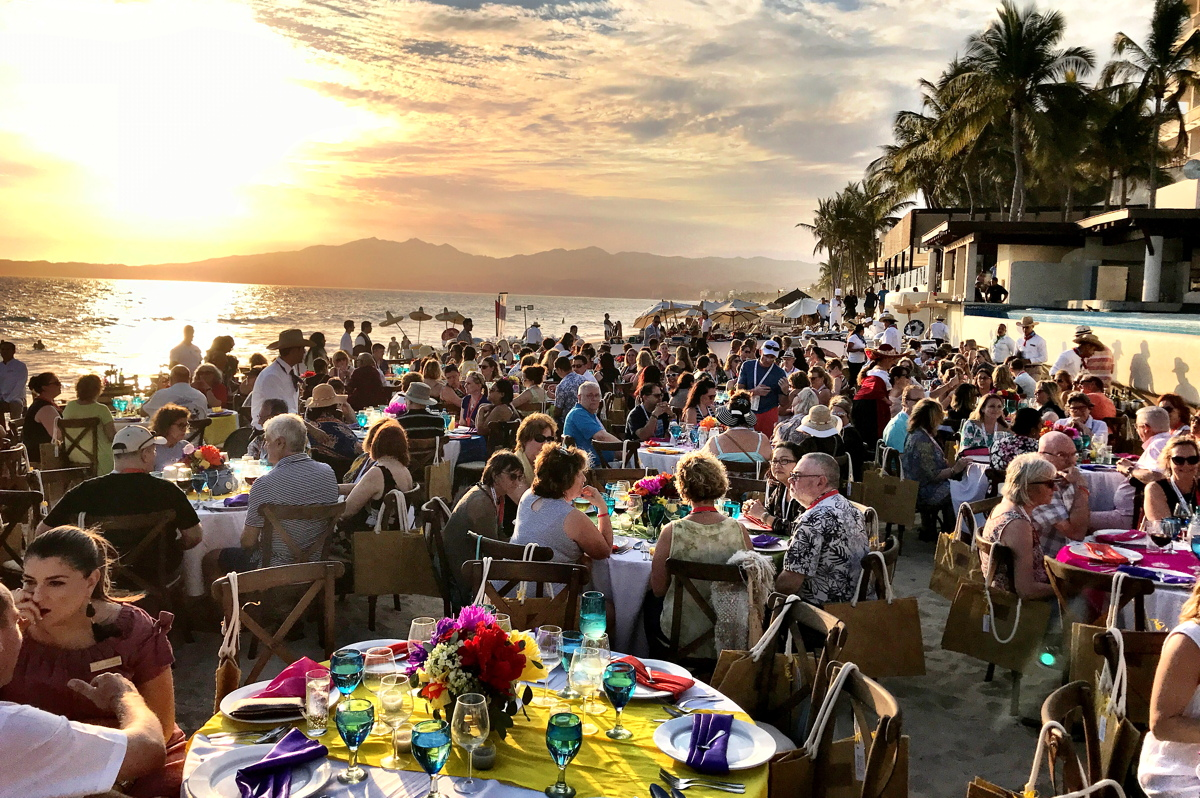 BEACH PARTY. Travel agents attending TTAND's conference were treated to a decadent buffet on the beach Tuesday night.